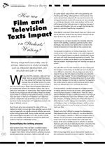 How Can Film and Television Texts Impact on Students' Writing?