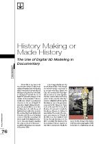 History Making or Made History: The Use of Digital 3D Modeling in Documentary