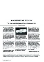 A ScreenSound Too Far: The Renaming of the National Film and Sound Archive