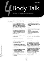 Body Talk: Making and Interpreting Meaning (Primary School Teacher Resource)