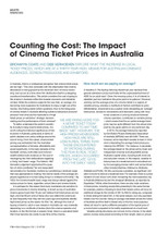 Counting the Cost: The Impact of Cinema Ticket Prices in Australia