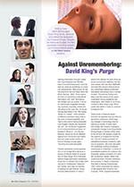 Against Unremembering: David King's <em>Purge</em>