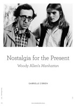 Nostalgia for the Present: Woody Allen's Manhattan