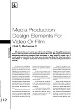 Media Production Design Elements for Video or Film