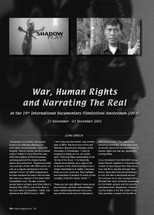 War, Human Rights and Narrating the Real at the 14th International Documentary Filmfestival Amsterdam (IDFA): 22 November - 02 December 2001