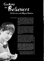 Seeking the Believers: An Interview with Mojgan Khadem