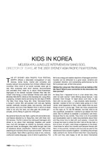 Kids in Korea: Melissa Kyu-Jung Lee interviews Im Sang Soo, Director of 'Tears', at the 2001 Sydney Asia Pacific Film Festival