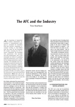 The AFC and the Industry