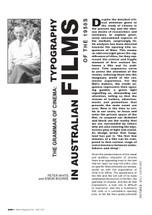 The Grammar of Cinema: Typography in Australian Films of the 1950s