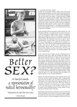 Better Sex? Or (How Far) Towards: A Representation of Radical Heterosexuality? Thoughts on 'Better Than Sex'