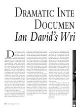 Dramatic Interpretation and Documentary Fact: Ian David's Writing for Television