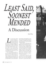 Least Said, Soonest Mended': A Discussion