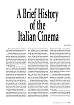 A Brief History of the Italian Cinema