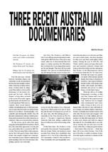 Three Recent Australian Documentaries
