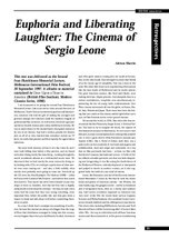 Euphoria and Liberating Laughter: The Cinema of Sergio Leone