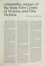 cinemedia: Merger of the State Film Centre of Victoria and Film Victoria