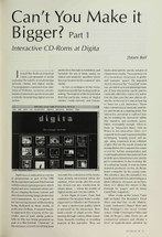 Can't You Make It Bigger? Part 1: Interactive CD-ROMs at Digita