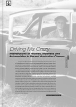Driving Ms Crazy': Intersections of Women, Madness and Automobiles in Recent Australian Cinema