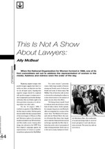 This Is Not a Show About Lawyers: 'Ally McBeal'