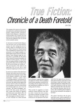 True Fiction: 'Chronicle of a Death Foretold'