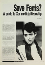 Save Ferris? A Guide to Xer Media/Citizenship