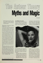 The Auteur Theory: Myths and Magic