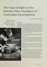 The Case of 'Babe' on the Internet: New Paradigms of Curriculum Development
