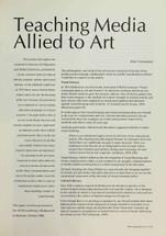 Teaching Media Allied to Art