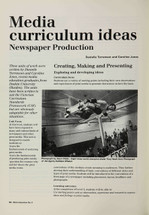 Media Curriculum Ideas: Newspaper Production
