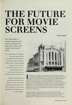 The Future for Movie Screens