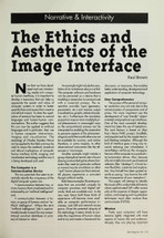 The Ethics and Aesthetics of the Image Interface