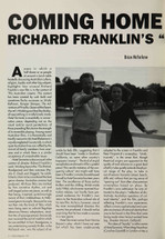 Coming Home and Going On: Richard Franklin's 'Hotel Sorrento'