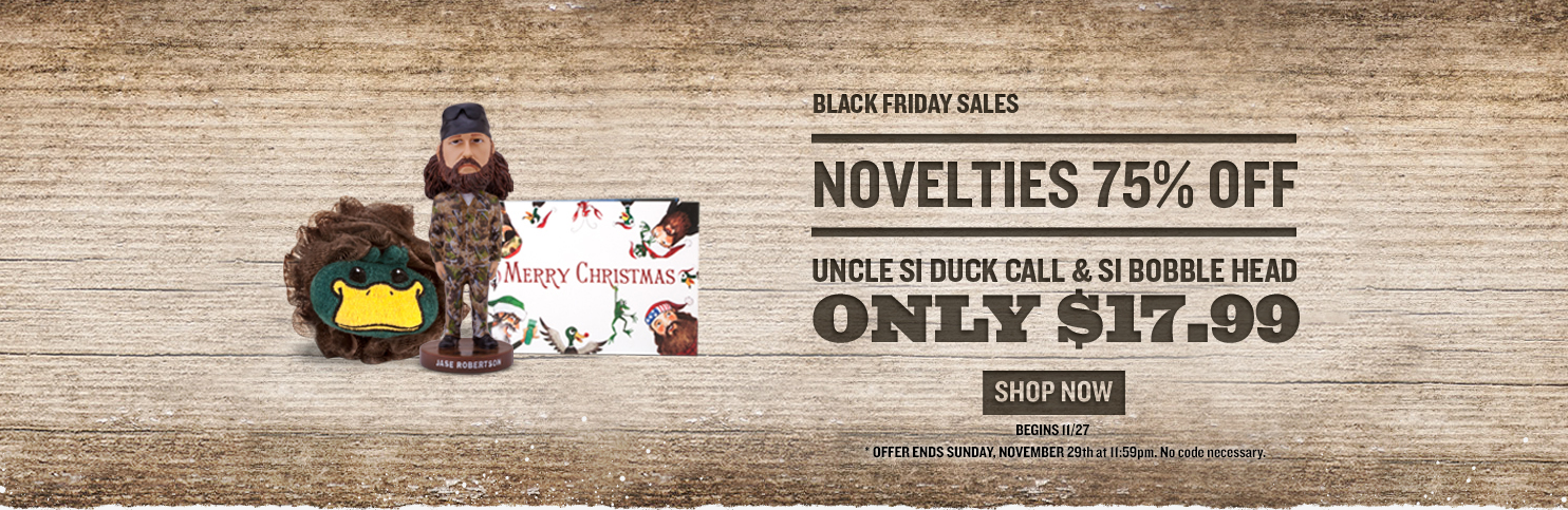 Black Friday Deals: 75% OFF Novelties and Uncle Si call & Bobble head for only $17.99