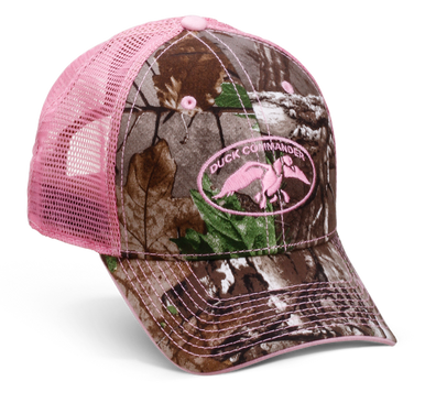 s realtree ap camo and pink mesh hat duck commander