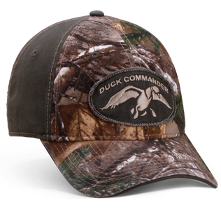 Green and Camo Duck Commander Logo Hat