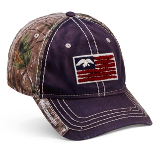 Navy and Camo Flag Hat