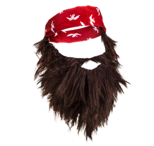 Dress Up Beard And Bandana Combo