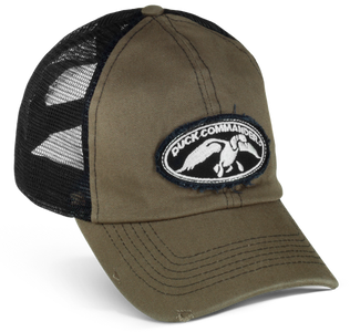 Duck Commander Olive and Black Trucker Hat