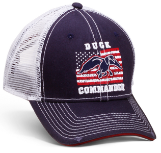 Navy and White Flag Cap