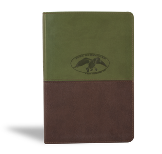 Duck Commander Faith and Family Bible, Green & Brown THUMB INDEX