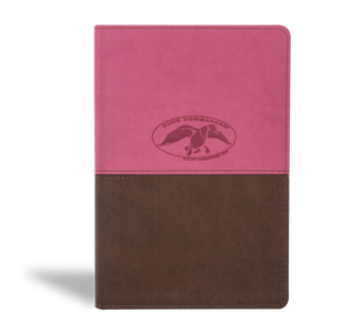 Duck Commander Faith and Family Bible, Pink & Brown THUMB INDEX