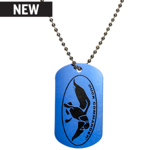 Duck Commander Dog Tag Necklace, Blue