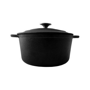 Duck Commander 4 qt Flat Bottom Cast Iron Dutch Oven