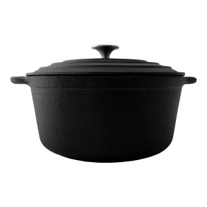Duck Commander 6.5 qt Flat Bottom Cast Iron Dutch Oven