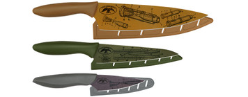 Duck Commander Kitchen Knives with Classic Commander Blueprint Pattern