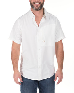 Commander Performance White Button-Up