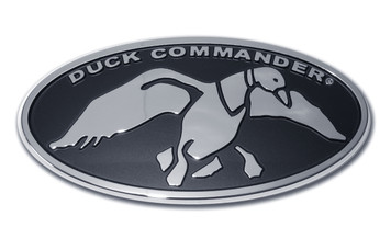 Duck Commander Oval Chrome Auto Emblem, Chrome & Black
