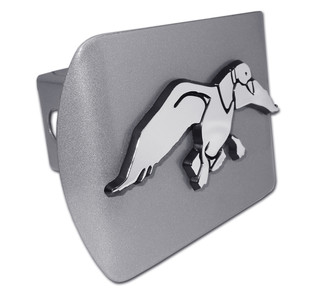 Duck Commander Chrome Duck on Brushed Hitch Cover