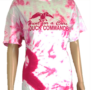 Hunt for a Cure Breast Cancer T-Shirt  Pink And White TyeDie