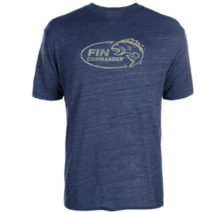 Fin Commander Navy Logo T-Shirt